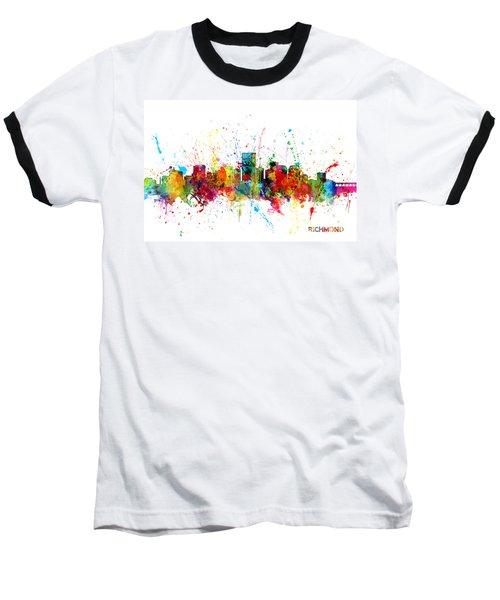 Baseball T-Shirt featuring the digital art Richmond Virginia Skyline by Michael Tompsett