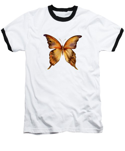 7 Yellow Gorgon Butterfly Baseball T-Shirt by Amy Kirkpatrick