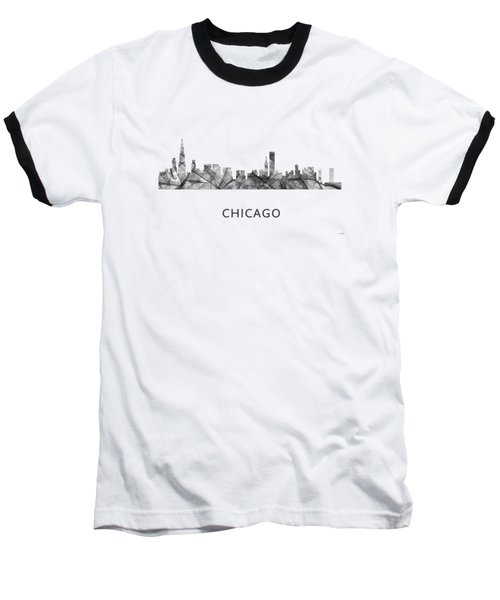 Chicago Illinois Skyline Baseball T-Shirt