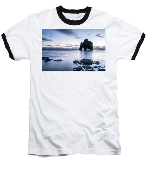 Dinosaur Rock Beach In Iceland Baseball T-Shirt
