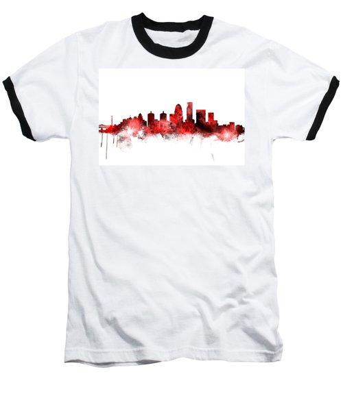 Louisville Kentucky City Skyline Baseball T-Shirt
