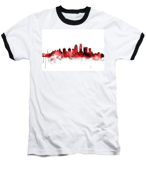 Louisville Kentucky City Skyline Baseball T-Shirt