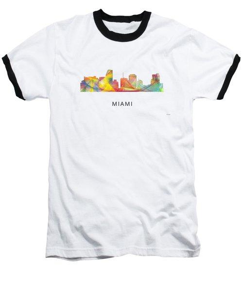 Miami Florida Skyline Baseball T-Shirt