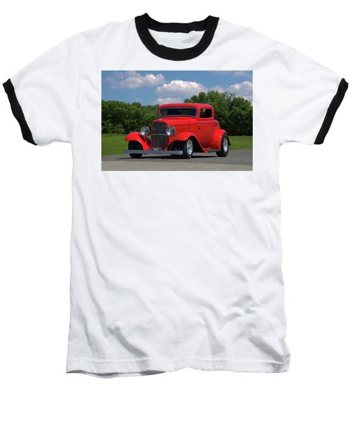 1932 Ford Coupe Hot Rod Baseball T-Shirt by Tim McCullough