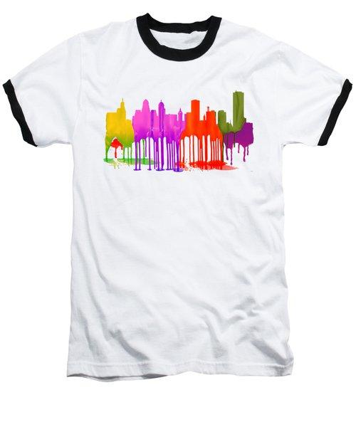Buffalo New York Skyline Baseball T-Shirt