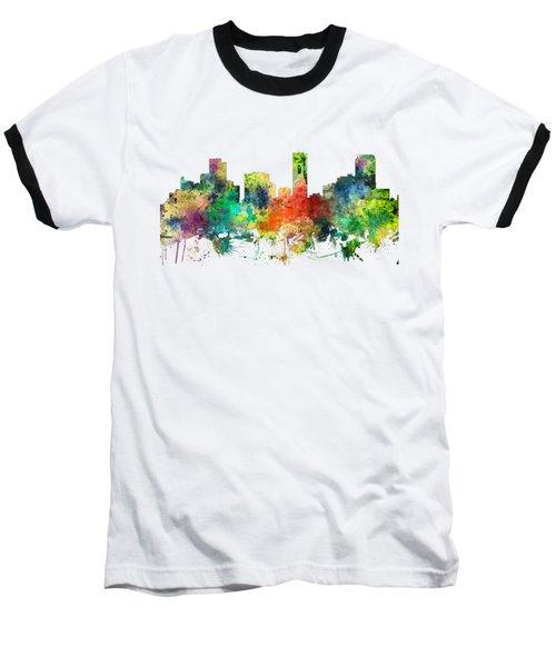 Denver Colorado Skyline Baseball T-Shirt