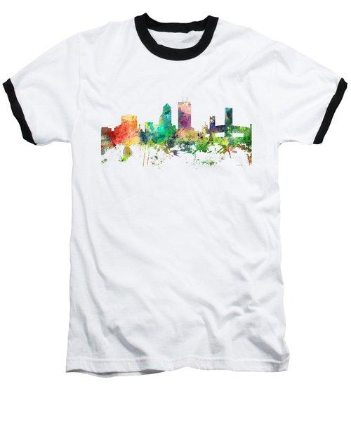 Jacksonville Florida Skyline Baseball T-Shirt by Marlene Watson