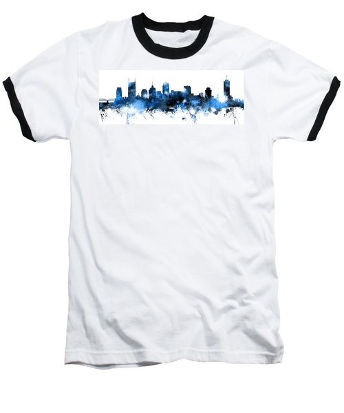 Nashville Tennessee Skyline Baseball T-Shirt
