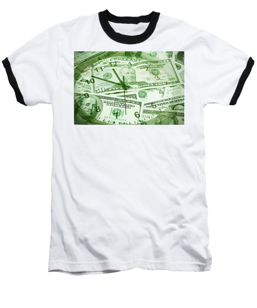 Baseball T-Shirt featuring the photograph Time Is Money  by Les Cunliffe