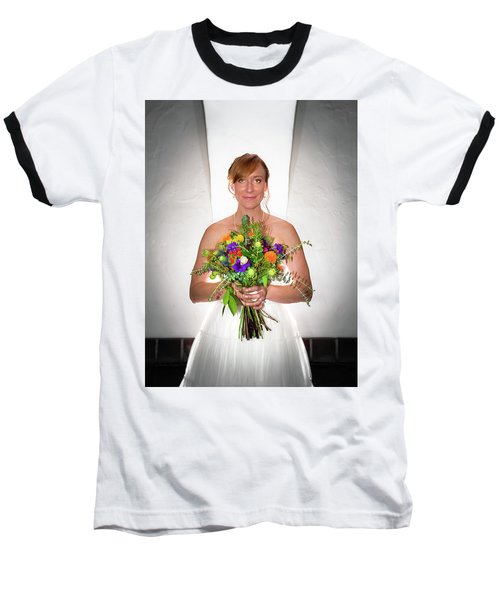 A Beautiful Backlit Bride And Her Bouquet Baseball T-Shirt