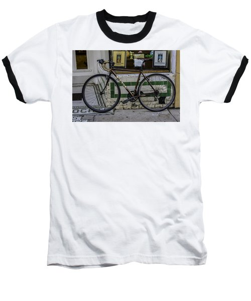 A Bicycle In The French Quarter, New Orleans, Louisiana Baseball T-Shirt
