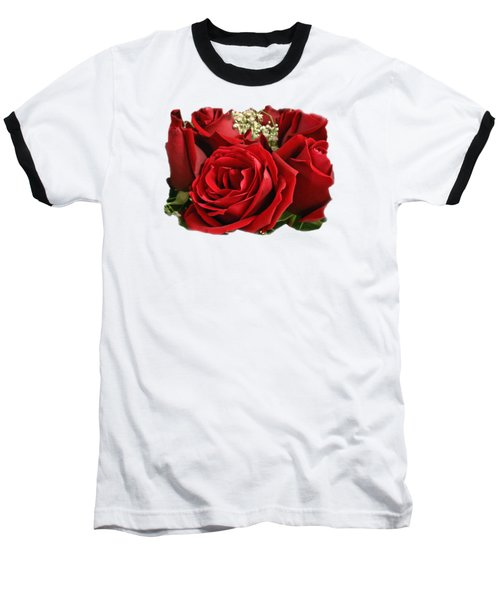Baseball T-Shirt featuring the photograph A Bouquet Of Red Roses by Sue Melvin