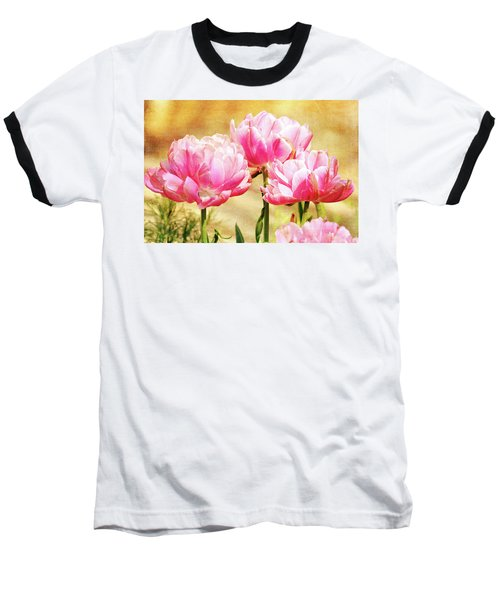 A Bouquet Of Tulips Baseball T-Shirt by Trina Ansel