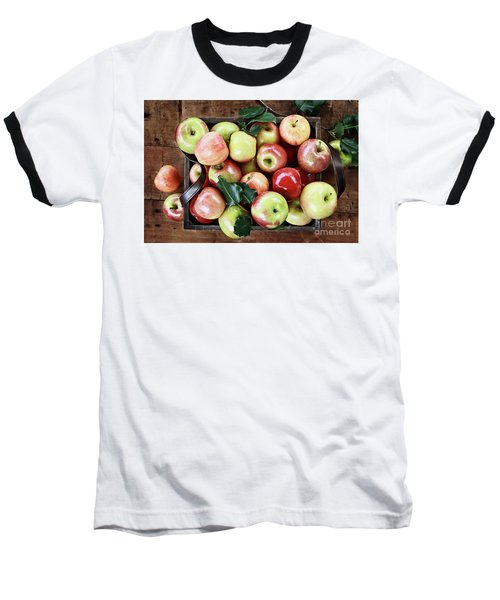 Baseball T-Shirt featuring the photograph A Bushel Of Apples  by Stephanie Frey
