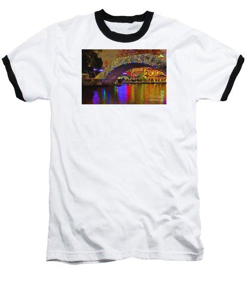 A Casa Rio Christmas On The Riverwalk Baseball T-Shirt