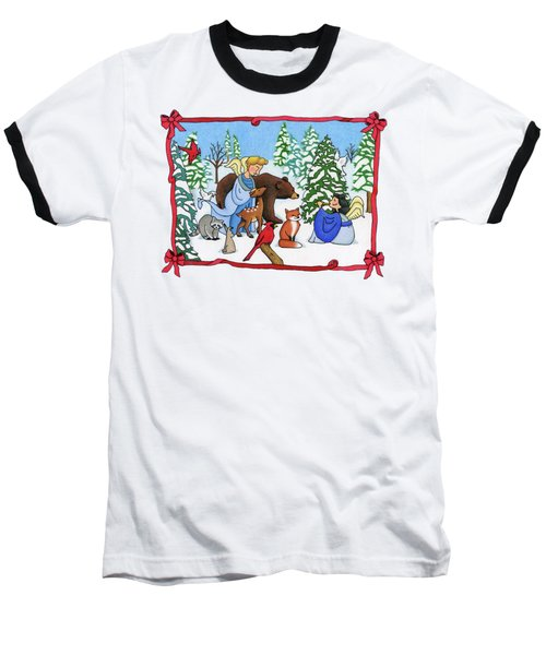 A Christmas Scene 2 Baseball T-Shirt
