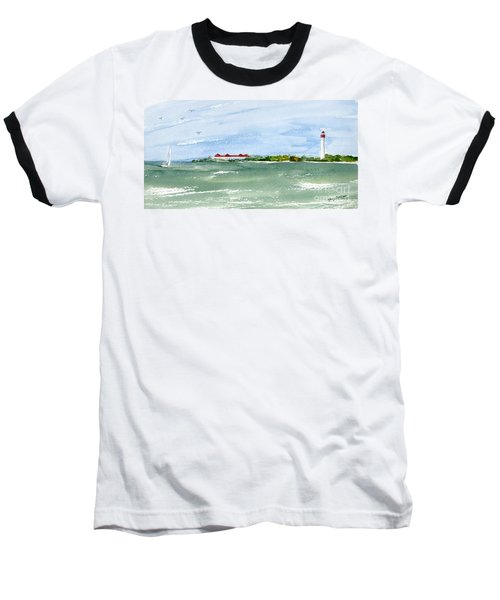 A Clear Day At Cape May Point  Baseball T-Shirt