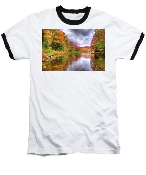 A Cloudy Autumn Day Baseball T-Shirt by David Patterson