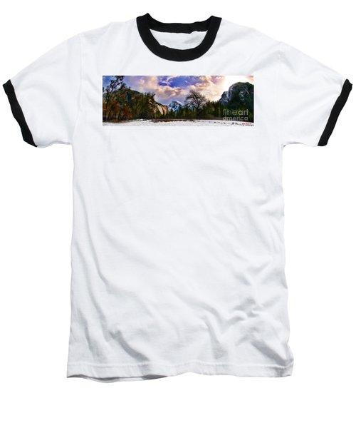 A Cold Yosemite Half Dome Morning Baseball T-Shirt