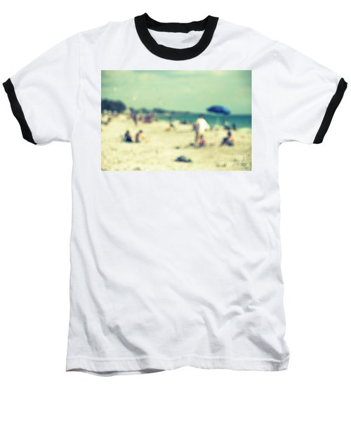 Baseball T-Shirt featuring the photograph a day at the beach I by Hannes Cmarits
