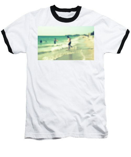 Baseball T-Shirt featuring the photograph a day at the beach III by Hannes Cmarits