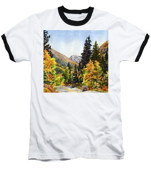 A Drive In The Mountains Baseball T-Shirt by Anne Gifford
