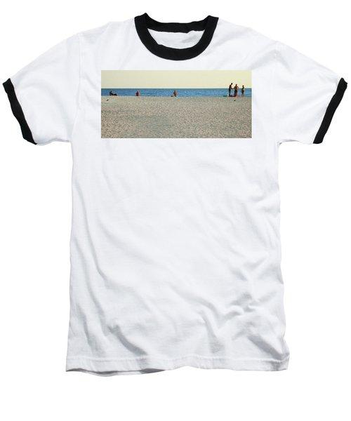 A Fine Day At The Beach Baseball T-Shirt