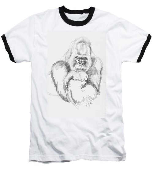 A Friendly Gorilla Baseball T-Shirt by John Keaton