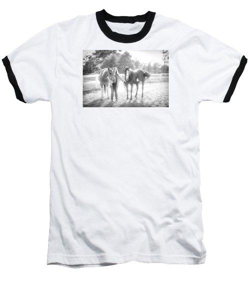 A Girl With Horses Baseball T-Shirt by Kelly Hazel