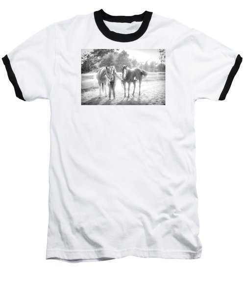 A Girl With Horses Baseball T-Shirt
