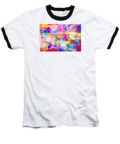 Wayzata Collage Baseball T-Shirt by Susan Stone