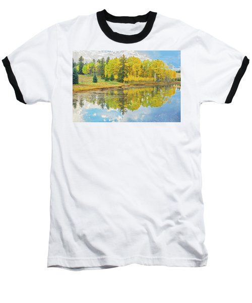 A Lakeside Willowwacks  Baseball T-Shirt by Bijan Pirnia