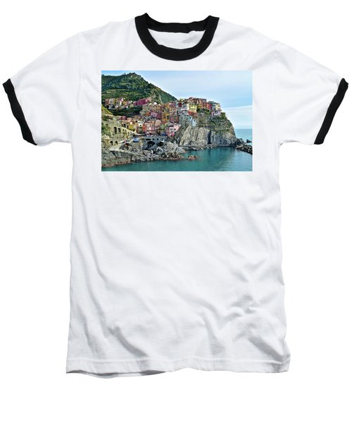 Baseball T-Shirt featuring the photograph A Manarola Morning by Frozen in Time Fine Art Photography