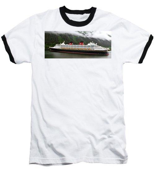 A Mickey Mouse Cruise Ship Baseball T-Shirt