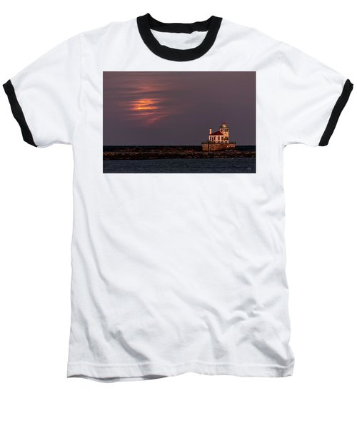 Baseball T-Shirt featuring the photograph A Moonsetting Sunrise by Everet Regal
