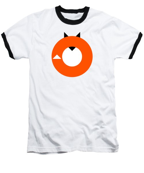 A Most Minimalist Fox Baseball T-Shirt by Nicholas Ely
