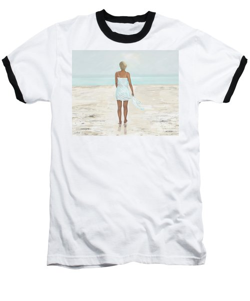 Baseball T-Shirt featuring the painting A Natural Beauty by Leslie Allen