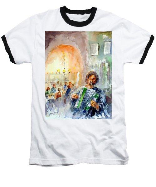 Baseball T-Shirt featuring the painting A Night At The Tavern by Faruk Koksal
