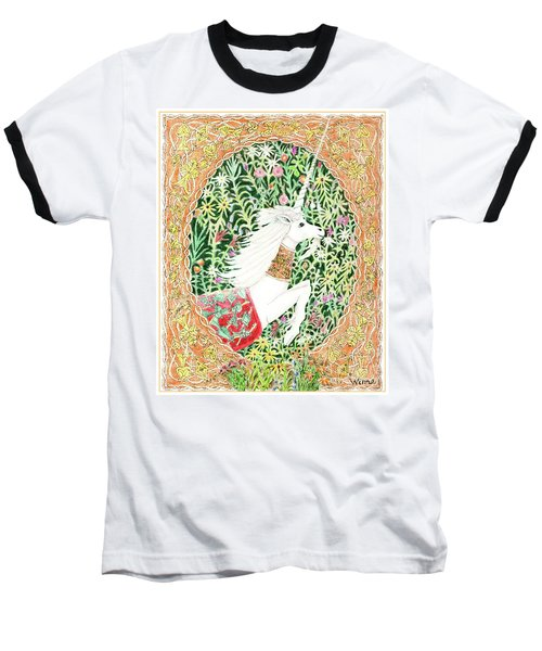 A Pawn Escapes Limited Edition Baseball T-Shirt by Lise Winne
