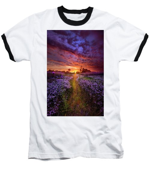 A Peaceful Proposition Baseball T-Shirt by Phil Koch