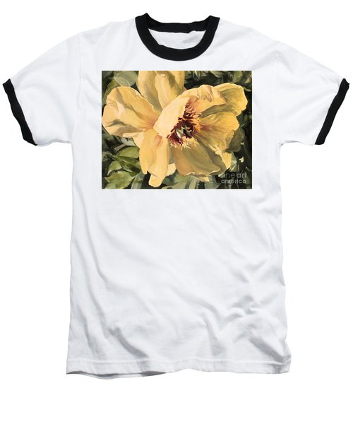 A Peony For Miggie Baseball T-Shirt by Laurie Rohner
