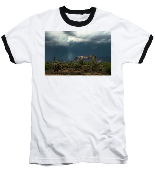 Baseball T-Shirt featuring the photograph A Rainy Evening In The Superstitions  by Saija Lehtonen