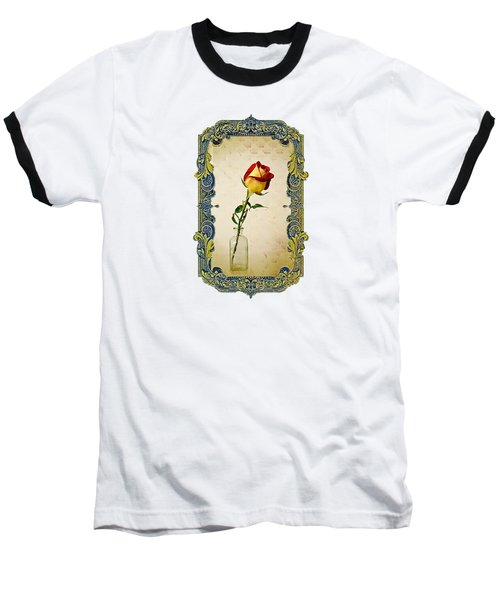 A Single Rose Baseball T-Shirt by Larry Bishop