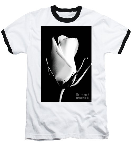 A Single White Rose Baseball T-Shirt