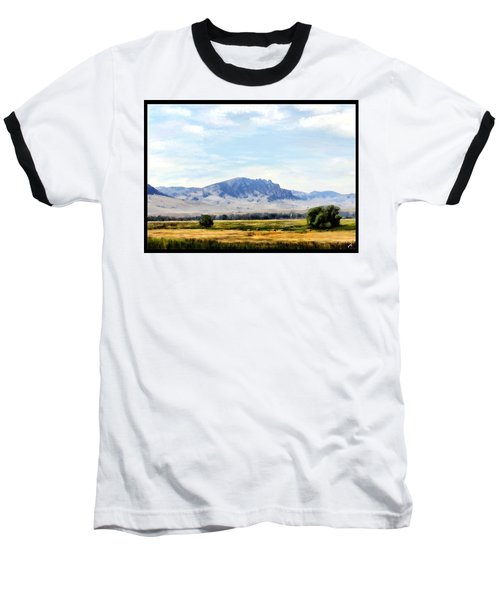Baseball T-Shirt featuring the painting A Sleeping Giant by Susan Kinney