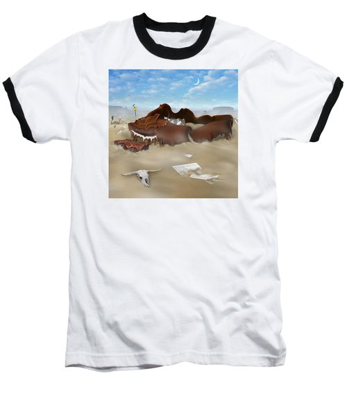 A Slow Death In Piano Valley Sq Baseball T-Shirt by Mike McGlothlen