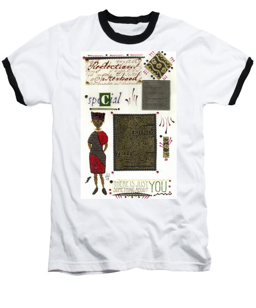 Baseball T-Shirt featuring the mixed media A Special Friend by Angela L Walker