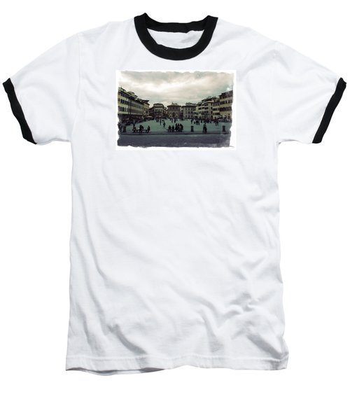 A Square In Florence Italy Baseball T-Shirt by Wade Brooks