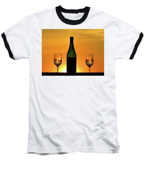 A Sunset In Each Glass Baseball T-Shirt