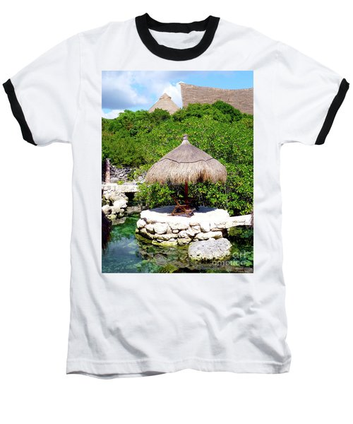 Baseball T-Shirt featuring the photograph A Tropical Place To Relax by Francesca Mackenney